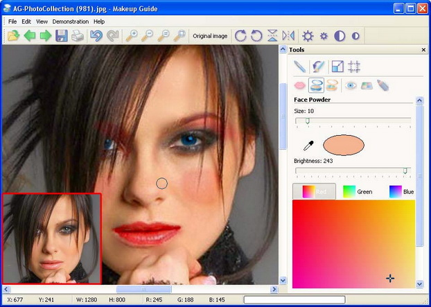 Программа для нанесения макияжа на фото бесплатно