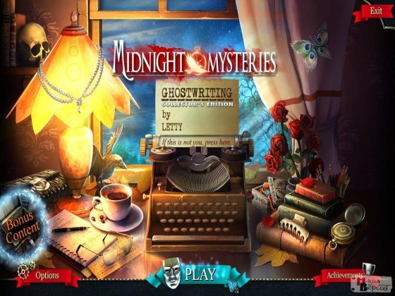 Midnight Mysteries 6: Ghostwriting Collector's Edition (2015) - полная версия